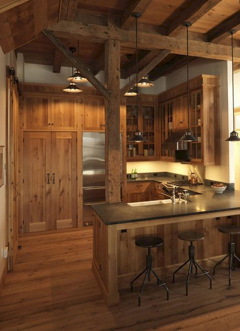 marvelous beautiful kitchen | 58+ Marvelous Rustic Kitchen Decorating Ideas - Page 2 of 60