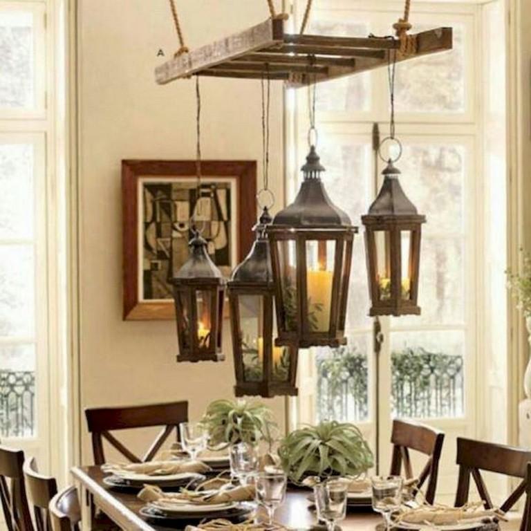 20 Bedroom Chandelier Designs Decorating Ideas: 18+ The Top Farmhouse Ladder Chandelier Design Ideas