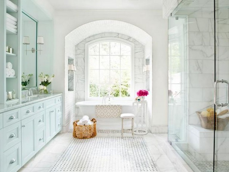 47+ Awesome Farmhouse Bathroom Tile Floor Decor Ideas and ...
