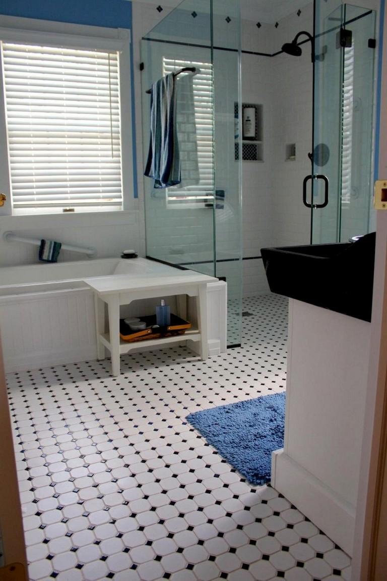 47+ Awesome Farmhouse Bathroom Tile Floor Decor Ideas and ... on Farmhouse Bathroom Floor Tile  id=75253