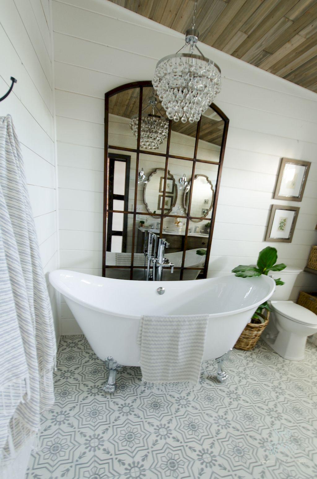 101 stunning farmhouse bathroom tile floor decor ideas and