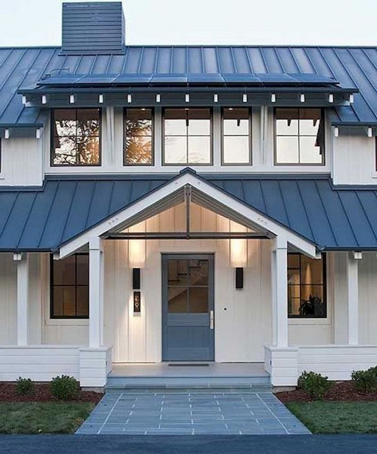 Home Exterior Farmhouse Design Ideas: 74+ Best Rustic Farmhouse Exterior Design Ideas